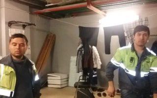 Ночлежка и склад в помещении вентиляционной камеры
